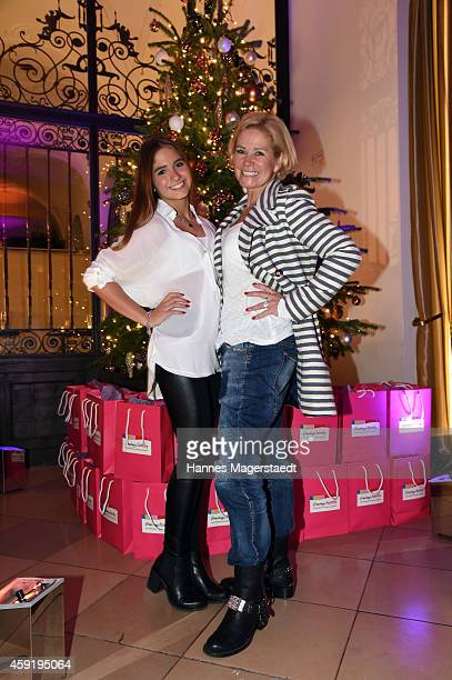 Claudia Effenberg and her daughter Lucia Strunz attends the 'Ernsting's Family Fashion Dinner' at Rilano No 6 on November 18 2014 in Munich Germany