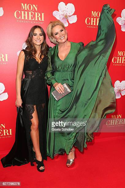 Claudia Effenberg and her daughter Lucia Strunz during the Mon Cheri Barbara Tag 2016 at Postpalast on December 2 2016 in Munich Germany