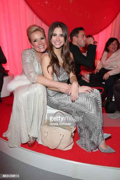 Claudia Effenberg and her daughter Lucia Strunz during the Mon Cheri Barbara Tag at Postpalast on November 30 2017 in Munich Germany