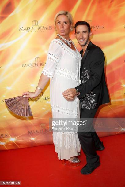 Claudia Effenberg and Marcel Remus attend the Remus Lifestyle Night on August 3 2017 in Palma de Mallorca Spain
