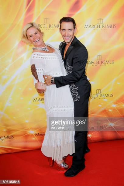 Claudia Effenberg and Marcel Remus attends the Remus Lifestyle Night on August 3 2017 in Palma de Mallorca Spain