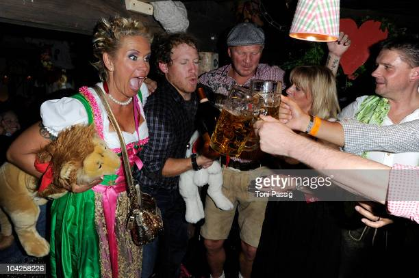Claudia Effenberg and Stefan Effenberg during the Oktoberfest 2010 at Theresienwiese on September 18 2010 in Munich Germany