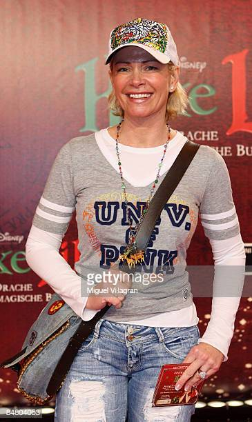 Claudia Effenberg looks on during the premiere of the movie 'Lilli The Witch The Dragon And The Magical Book' on February 15 2009 in Munich Germany...