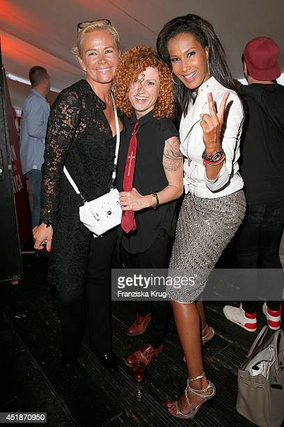 Claudia Effenberg Lucy Diakovska and Marie Amiere attend the Arqueonautas Presents Kevin Costner Music Meets Fashion at Spindler Klatt on July 08...