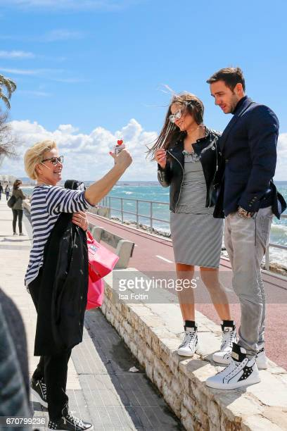Claudia Effenberg with her daughter Lucia Strunz and Marcel Remus behind the scenes at the Photoshooting with Lucia Strunz for Marcel Remus shoe...