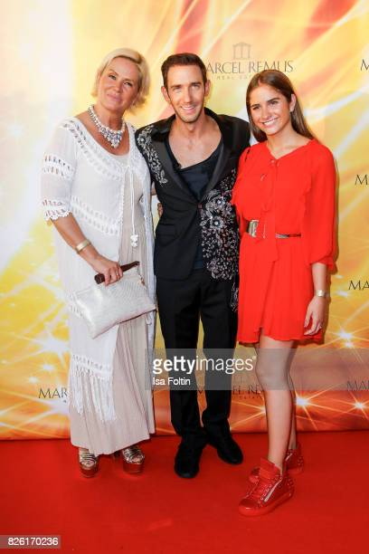 Claudia Effenberg with Marcel Remus and her daughter Lucia Strunz during the Remus Lifestyle Night on August 3 2017 in Palma de Mallorca Spain