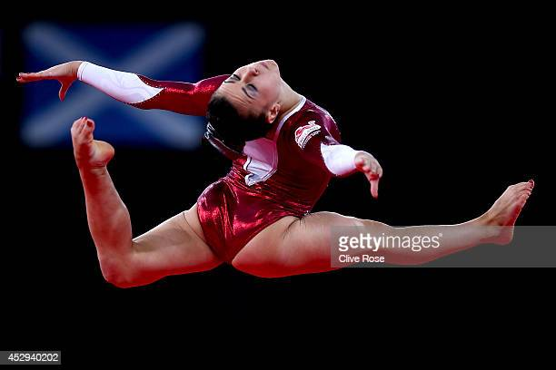 Claudia Fragapane of England in action during the Women's AllAround Final at the SECC Precinct during day seven of the Glasgow 2014 Commonwealth...