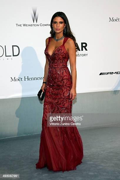 Claudia Galanti attends amfAR's 21st Cinema Against AIDS Gala Presented By WORLDVIEW BOLD FILMS And BVLGARI at Hotel du CapEdenRoc on May 22 2014 in...