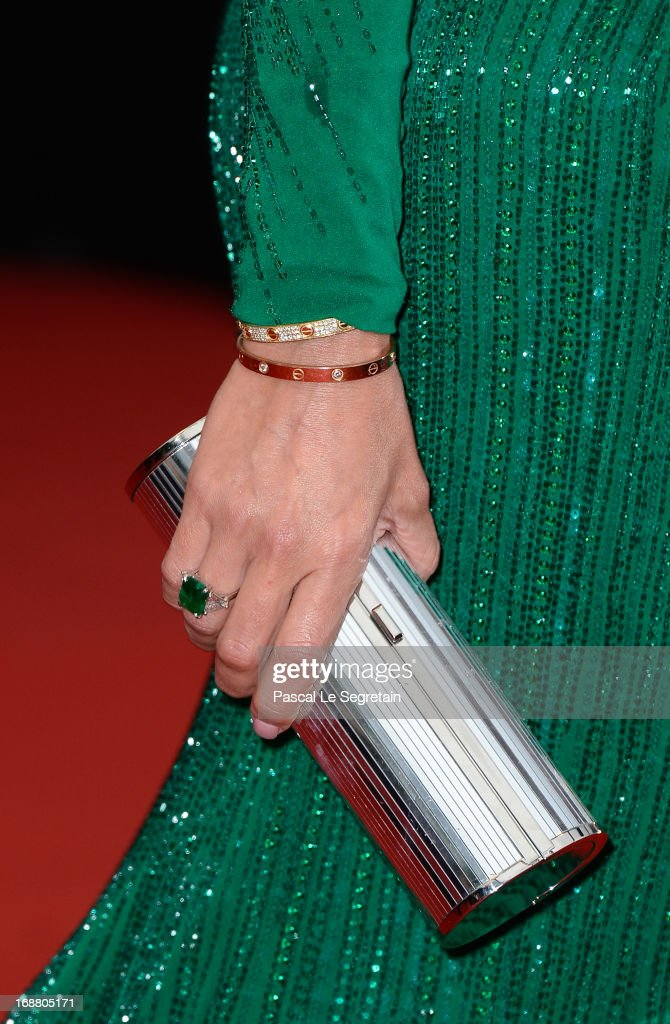 Claudia Galanti (fashion detail) attends the Opening Ceremony and 'The Great Gatsby' Premiere during the 66th Annual Cannes Film Festival at the Theatre Lumiere on May 15, 2013 in Cannes, France.