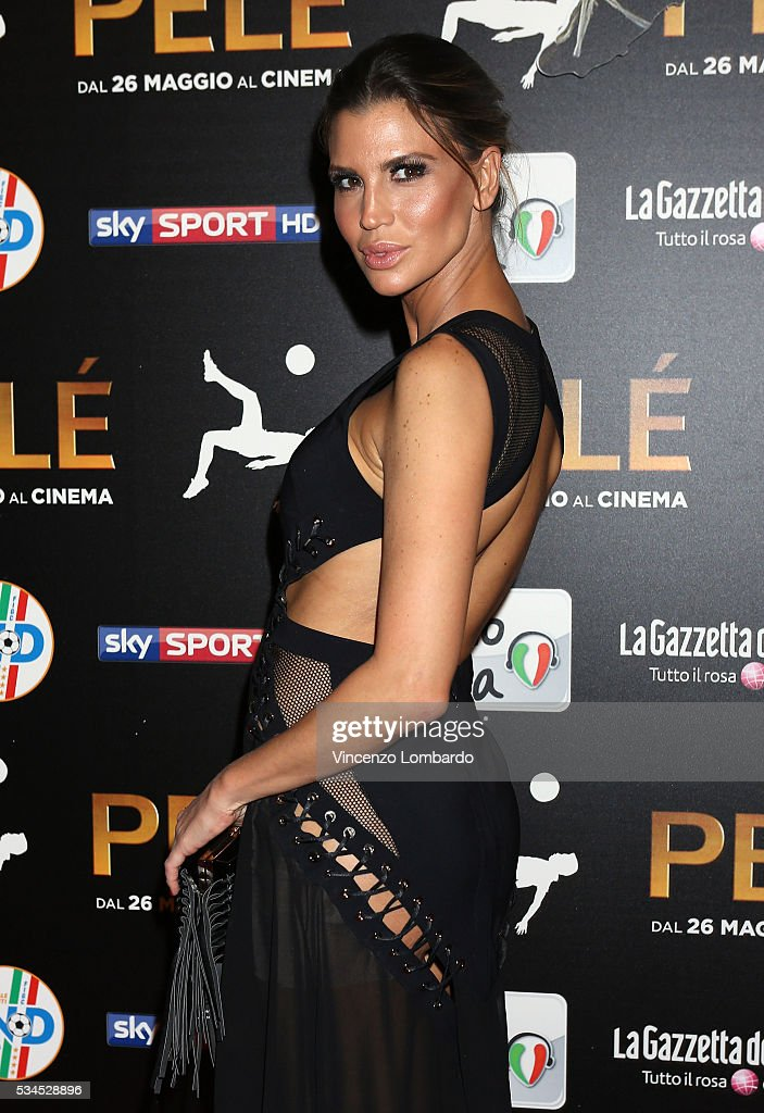 Claudia Galanti attends the 'Pele' Red Carpet In Milan on May 26, 2016 in Milan, Italy.