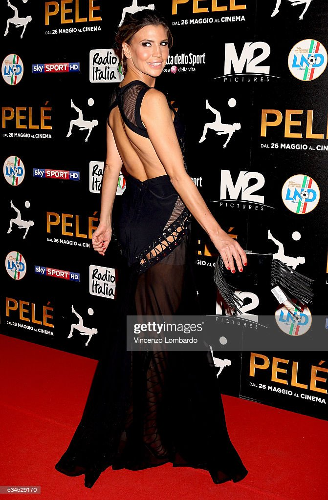 <a gi-track='captionPersonalityLinkClicked' href=/galleries/search?phrase=Claudia+Galanti&family=editorial&specificpeople=5670431 ng-click='$event.stopPropagation()'>Claudia Galanti</a> attends the 'Pele' Red Carpet In Milan on May 26, 2016 in Milan, Italy.