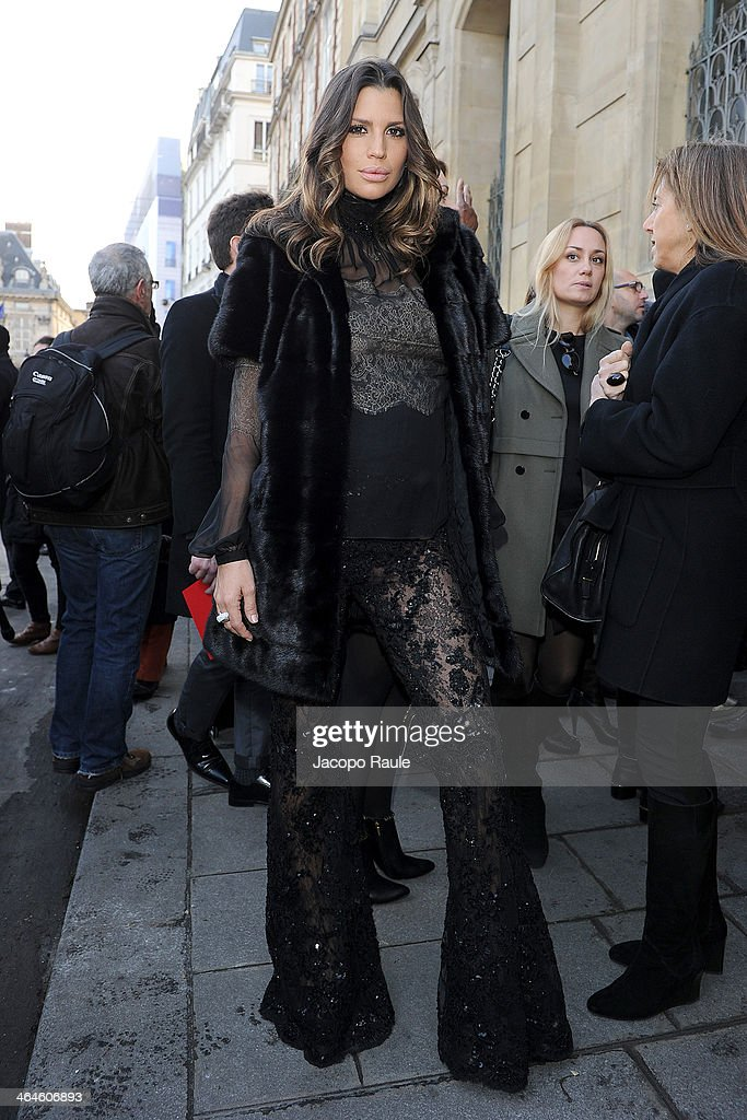 Claudia Galanti attends the Zuhair Murad show as part of Paris Fashion Week Haute Couture Spring/Summer 2014 on January 23, 2014 in Paris, France.