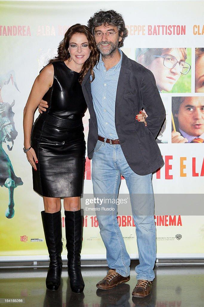 Claudia Gerini and Silvio Soldini attend the 'Il Comandante e La Cicogna' photocall at the Space Moderno on October 15, 2012 in Rome, Italy.