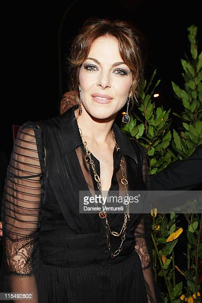 Claudia Gerini attend the Aspettando Il Sole premiere during the 3rd Rome International Film Festival held at the SalaCinema Lotto on October 25 2008...