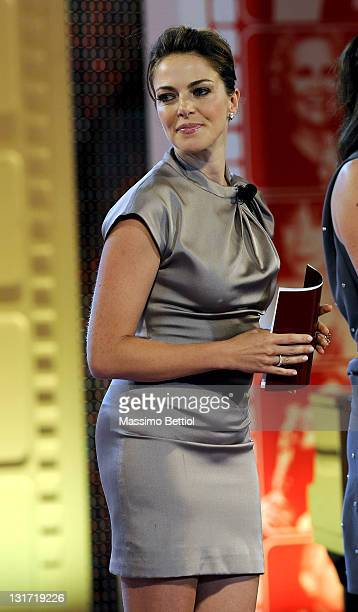 Claudia Gerini attends the 2010 Rudolph Valentino International Cinema Awards at the Poltu Quatu Harbour Resort on July 4 2010 in Poltu Quatu near...