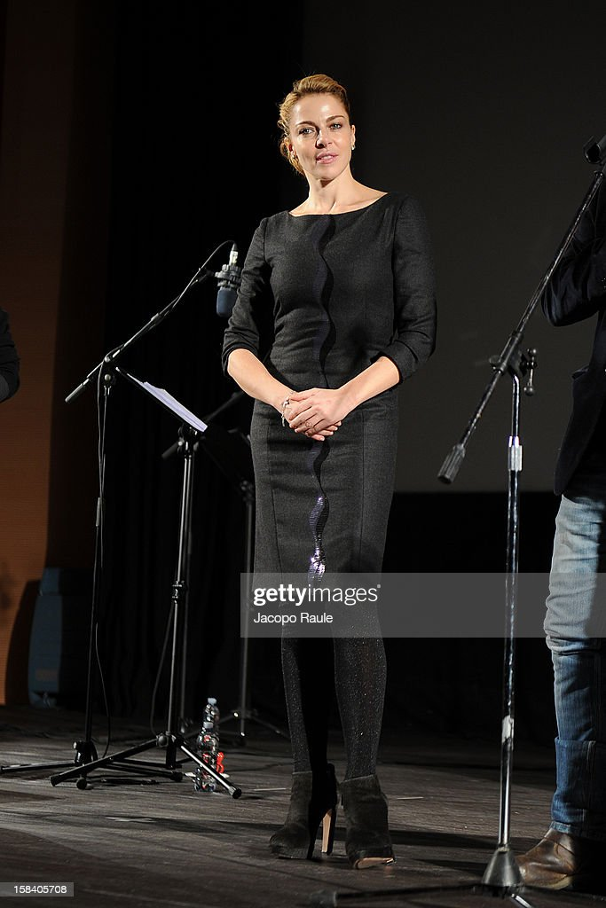 Claudia Gerini attends the 22th Courmayeur Noir In Festival on December 15, 2012 in Courmayeur, Italy.