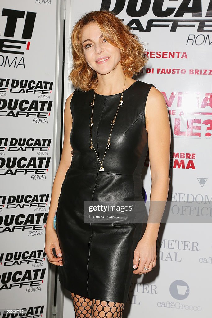 Claudia Gerini attends the 'Indovina Chi Viene A Natale' party at Ducati Caffe on December 19, 2013 in Rome, Italy.