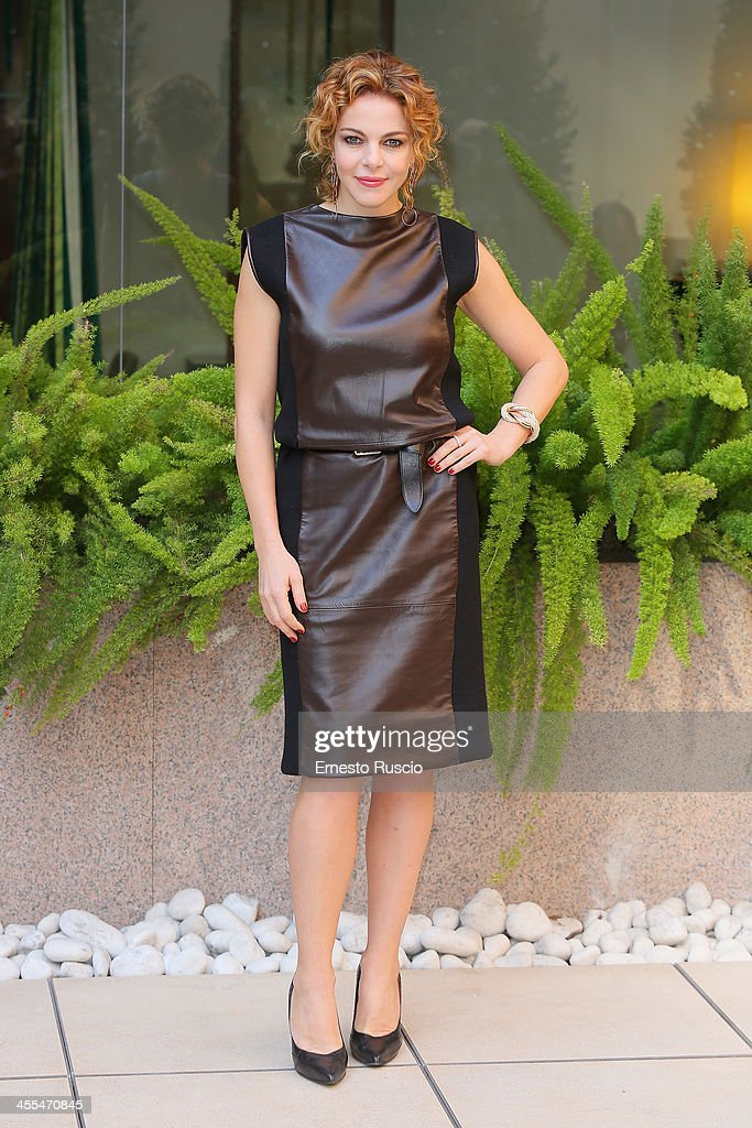 Claudia Gerini attends the 'Indovina Chi Viene A Natale' Photocall at Hotel Visconti on December 12, 2013 in Rome, Italy.