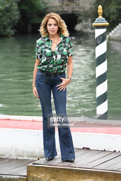 Claudia Gerini is seen during the 74th Venice Film Festival on September 7 2017 in Venice Italy