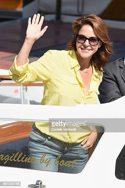 Claudia Gerini is seen on day 6 of the 72nd Venice Film Festival on September 7 2015 in Venice Italy
