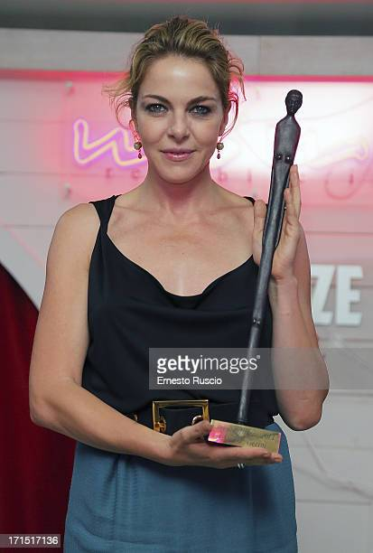 Claudia Gerini receives the 'Premio Afrodite 2013' at MoMo on June 25 2013 in Rome Italy