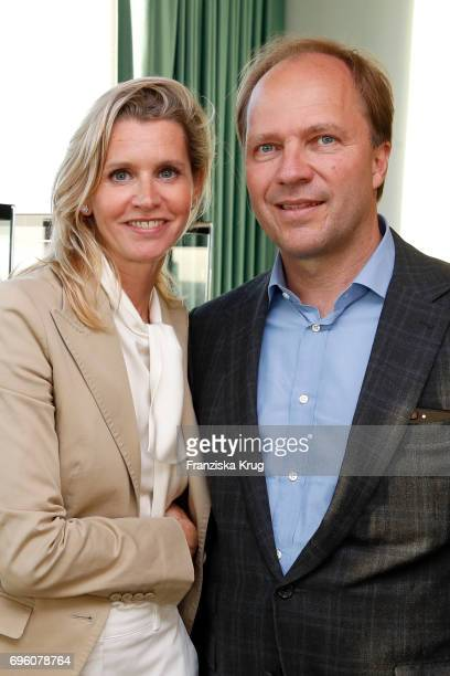 Claudia Gerlach and Gregor Gerlach attend the Bell Ross Cocktail Party at Elbphilharmonie show apartment on June 14 2017 in Hamburg Germany