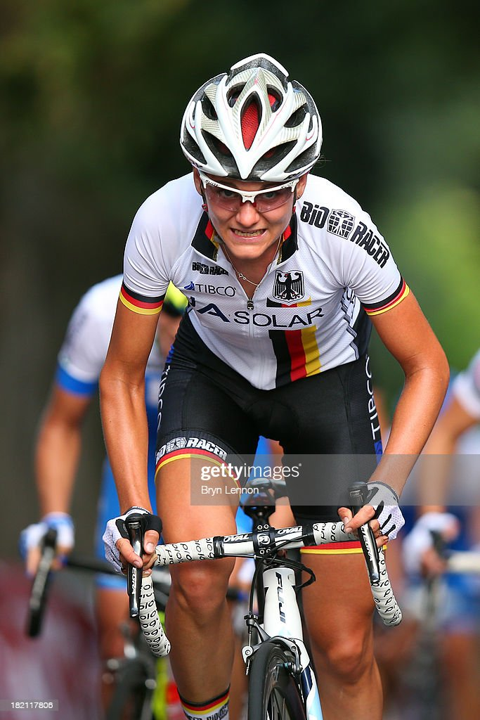 Claudia Hausler of Germany in action during the Elite Women's Road Race on September 28, 2013 in Florence, Italy.