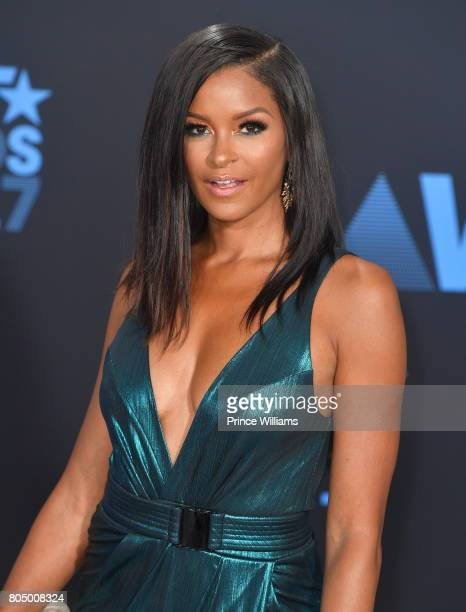 Claudia Jordan attends the 2017 BET Awards at Microsoft Theater on June 25 2017 in Los Angeles California