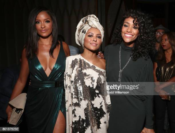 Claudia Jordan Princess Kat Graham and Annie Ilonzeh attend a Love Music Funk Jam hosted by Kat Graham at The Peppermint Club on June 25 2017 in Los...