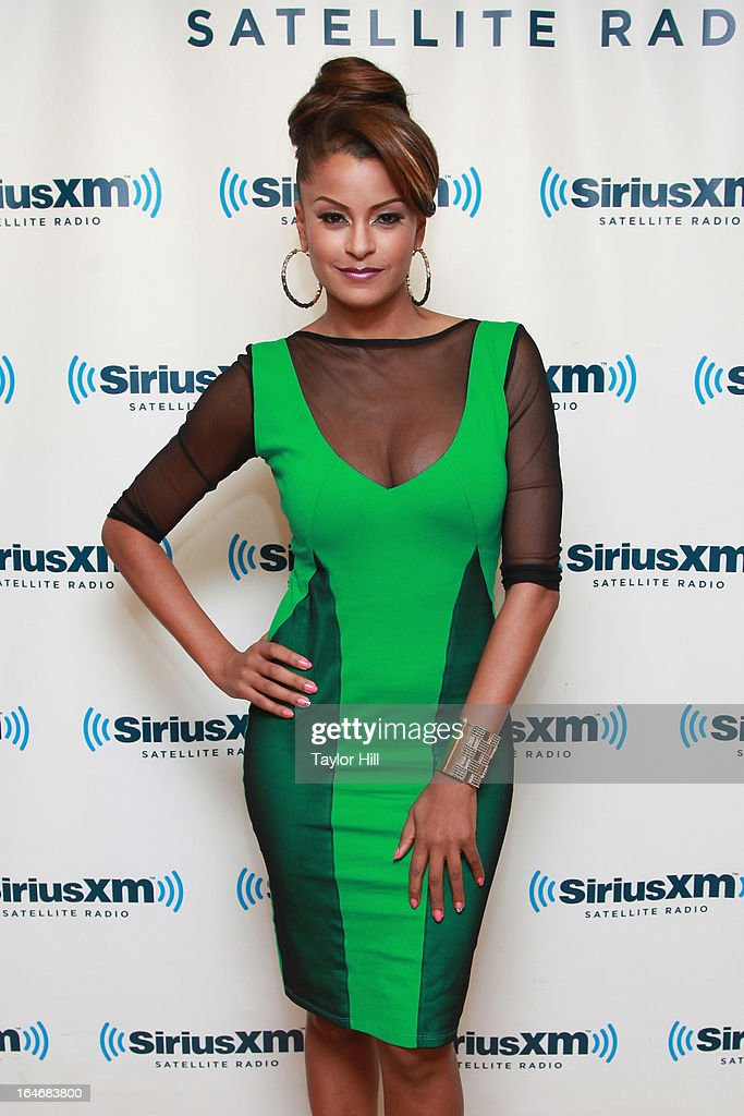 Claudia Jordan visits SiriusXM Studios on March 26, 2013 in New York City.