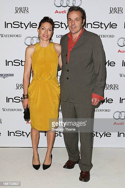 Claudia Karvan and Jeremy Sparks arrive at the 2013 Instyle and Audi Women of Style Awards at Carriageworks on May 14 2013 in Sydney Australia