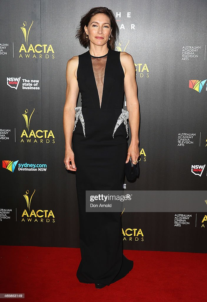 Claudia Karvan arrives at the 3rd Annual AACTA Awards Ceremony at The Star on January 30, 2014 in Sydney, Australia.
