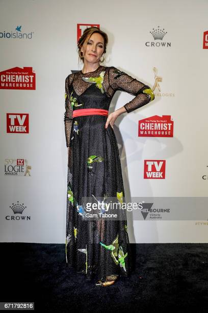 Claudia Karvan arrives at the 59th Annual Logie Awards at Crown Palladium on April 23 2017 in Melbourne Australia