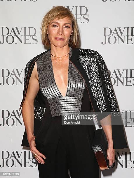 Claudia Karvan arrives at the David Jones Spring/Summer 2014 Collection Launch at David Jones Elizabeth Street Store on July 30 2014 in Sydney...