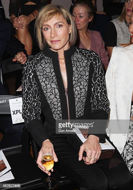 Claudia Karvan sits front row at the David Jones Spring/Summer 2014 Collection Launch at David Jones Elizabeth Street Store on July 30 2014 in Sydney...