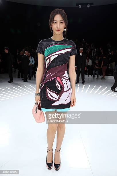 Claudia Kim attends the Christian Dior show as part of the Paris Fashion Week Womenswear Spring/Summer 2015 on September 26 2014 in Paris France