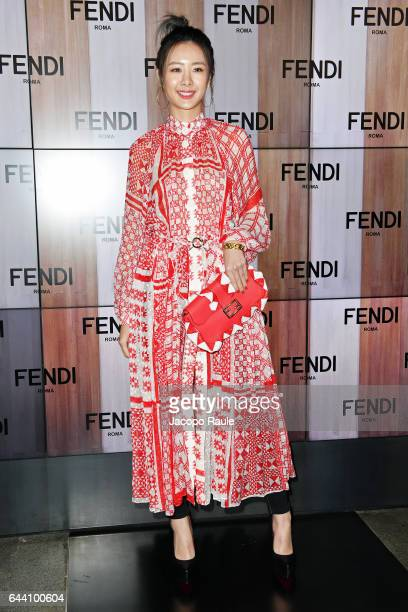 Claudia Kim attends the Fendi show during Milan Fashion Week Fall/Winter 2017/18 on February 23 2017 in Milan Italy