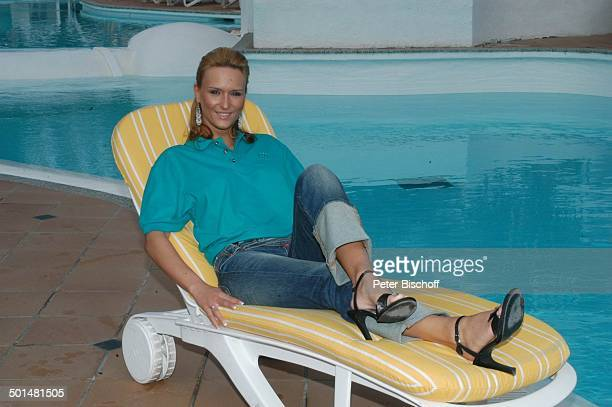 Claudia Königshaus Hotel 'Dunas La Canaria' Maspalomas Insel Gran Canaria Kanarische Insel Spanien Europa Pool Model Schönheitskönigin Promi BB DIG...