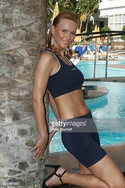 Claudia Königshaus Hotel 'Dunas La Canaria' Maspalomas Insel Gran Canaria Kanarische Insel Spanien Europa Pool Top sexy Model Schönheitskönigin Promi...