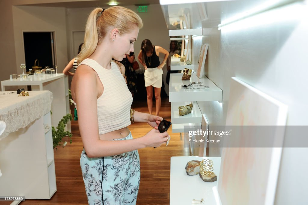 Claudia Lee attends JewelMint Celebrates The Launch Of Collective And Previews New Collections From Cher Coulter And CC Skye at on July 18, 2013 in Los Angeles, California.