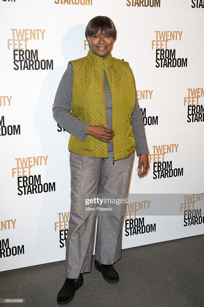 Claudia Lennear attends the 'Twenty feet from stardom' Paris premiere at Cinema UGC Normandie on November 18, 2013 in Paris, France.