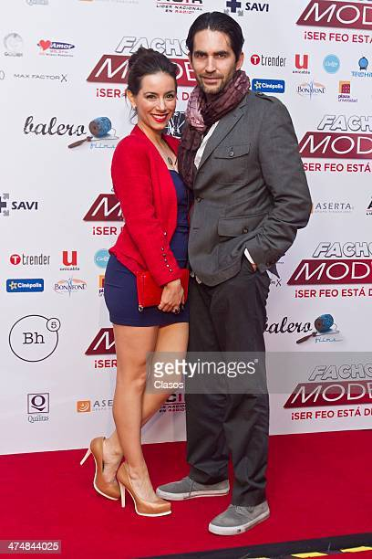 Claudia Lizaldi and Eammon Sean during the Red Carpet of the Mexican movie Fachon Models at Cinepolis Universidad on February 24 2014 in Mexico City...