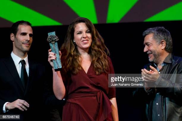 Claudia Llosa receives the Eloy de la Iglesia award during the 20th Malaga Film Festival at the Cervantes Theater on March 23 2017 in Malaga Spain