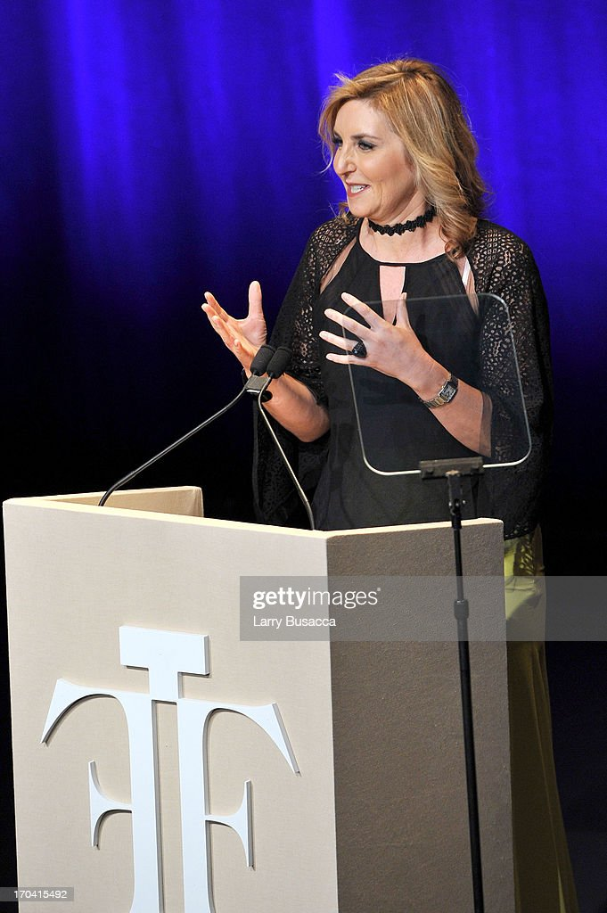Claudia Lucas speaks onstage at the 2013 Fragrance Foundation Awards at Alice Tully Hall at Lincoln Center on June 12, 2013 in New York City.