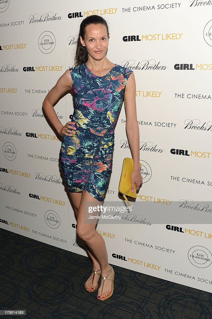 Claudia Mason attends the screening of Lionsgate and Roadside Attractions' 'Girl Most Likely' hosted by The Cinema Society & Brooks Brothers at Landmark's Sunshine Cinema on July 15, 2013 in New York City.