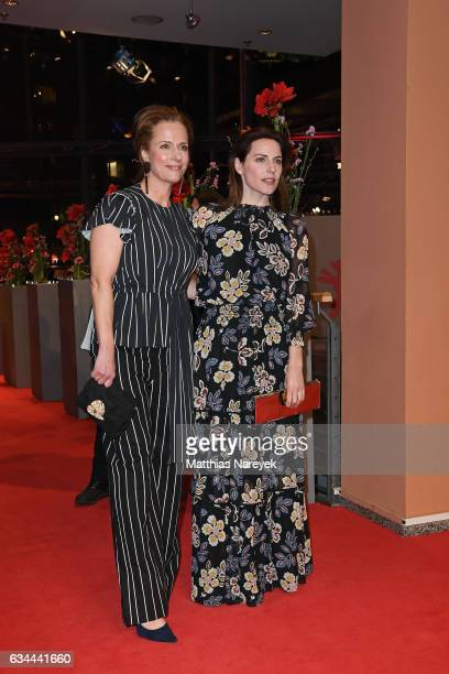 Claudia Michelsen and Antje Traue attend the 'Django' premiere during the 67th Berlinale International Film Festival Berlin at Berlinale Palace on...