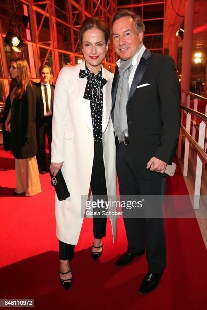Claudia Michelsen and Nico Hofmann during the Goldene Kamera reception at Messe Hamburg on March 4 2017 in Hamburg Germany