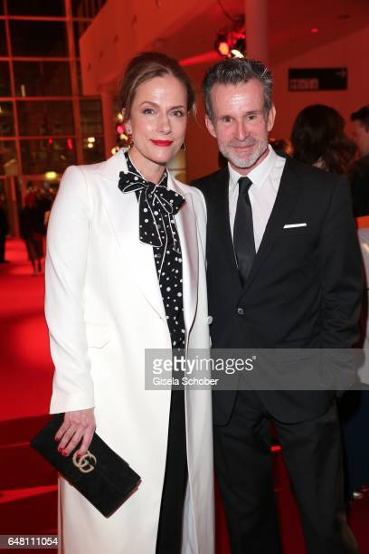 Claudia Michelsen and Ulrich Matthes during the Goldene Kamera reception at Messe Hamburg on March 4 2017 in Hamburg Germany