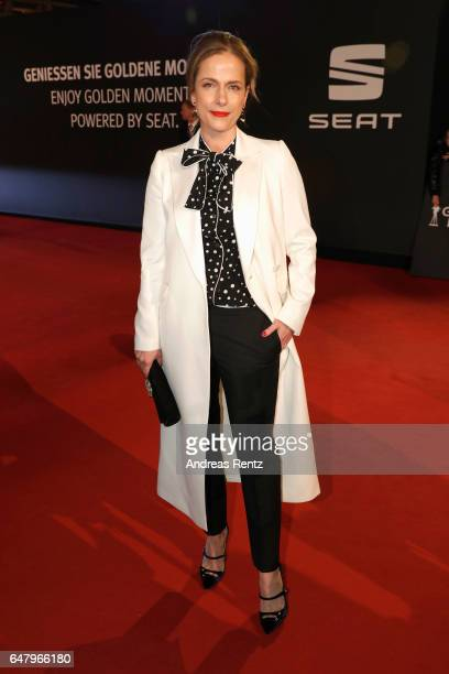 Claudia Michelsen arrives for the Goldene Kamera on March 4 2017 in Hamburg Germany