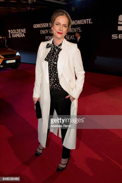 Claudia Michelsen arrives for the Goldene Kamera on March 4 2017 in Hamburg Germany